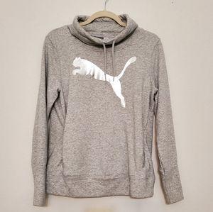 Puma Cowl Neck Foil Pullover Sweatshirt